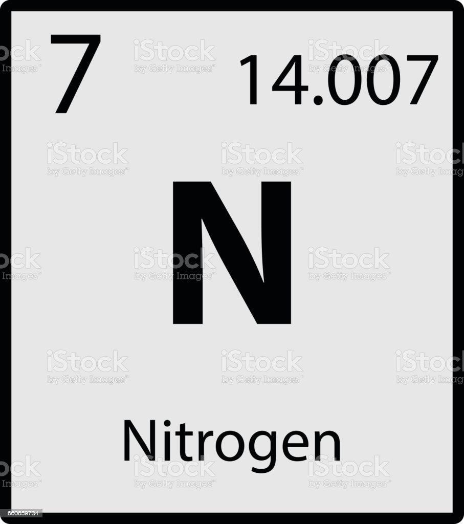 Nitrogen periodic table element gray icon on white background nitrogen periodic table element gray icon on white background vector royalty free stock vector art gamestrikefo Images