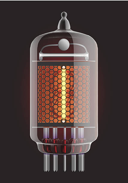 stockillustraties, clipart, cartoons en iconen met nixie radio tube. - radiobuis