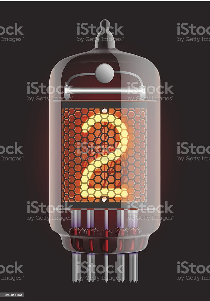 Nixie radio tube. royalty-free stock vector art