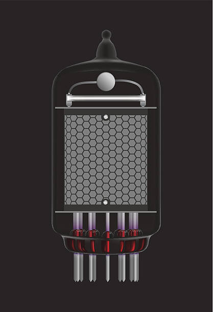 stockillustraties, clipart, cartoons en iconen met nixie tube indicator. - radiobuis