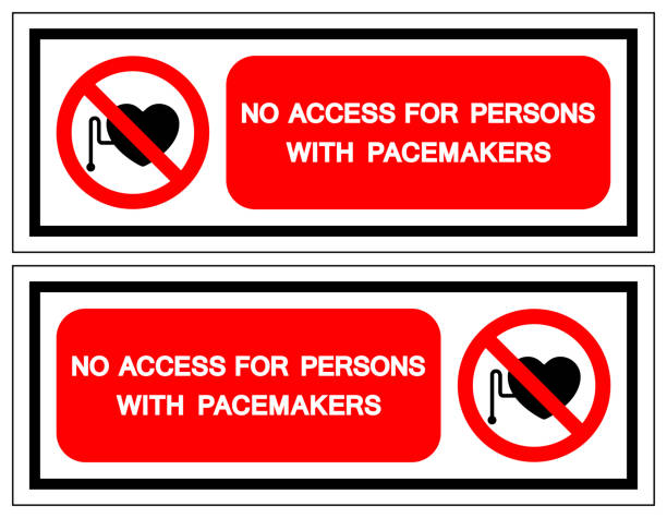 No Access For Persons With Pacemakers Symbol Sign, Vector Illustration, Isolate On White Background Label .EPS10 vector art illustration