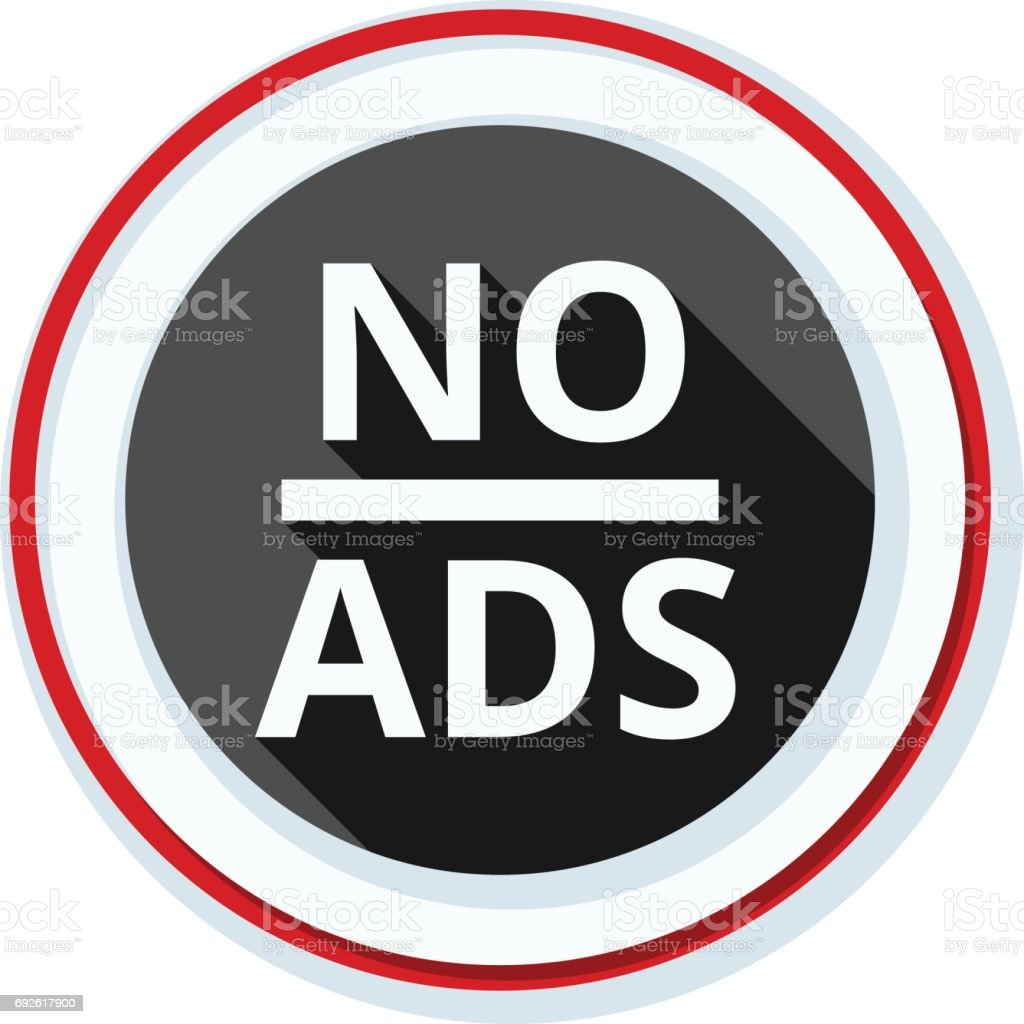 No ADS Adware sign illustration