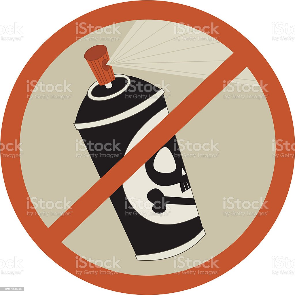 No Aerosol CFCs Symbol vector art illustration