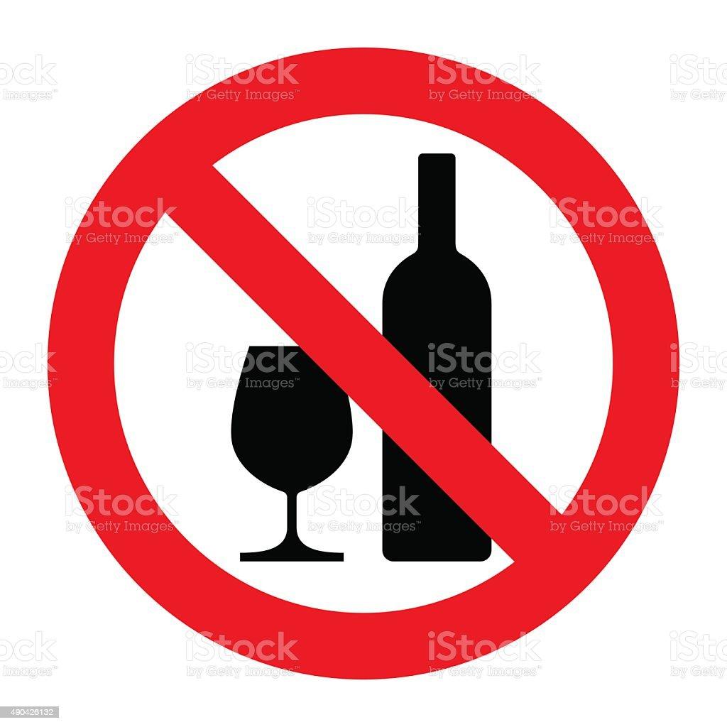 No alcohol sign vector art illustration