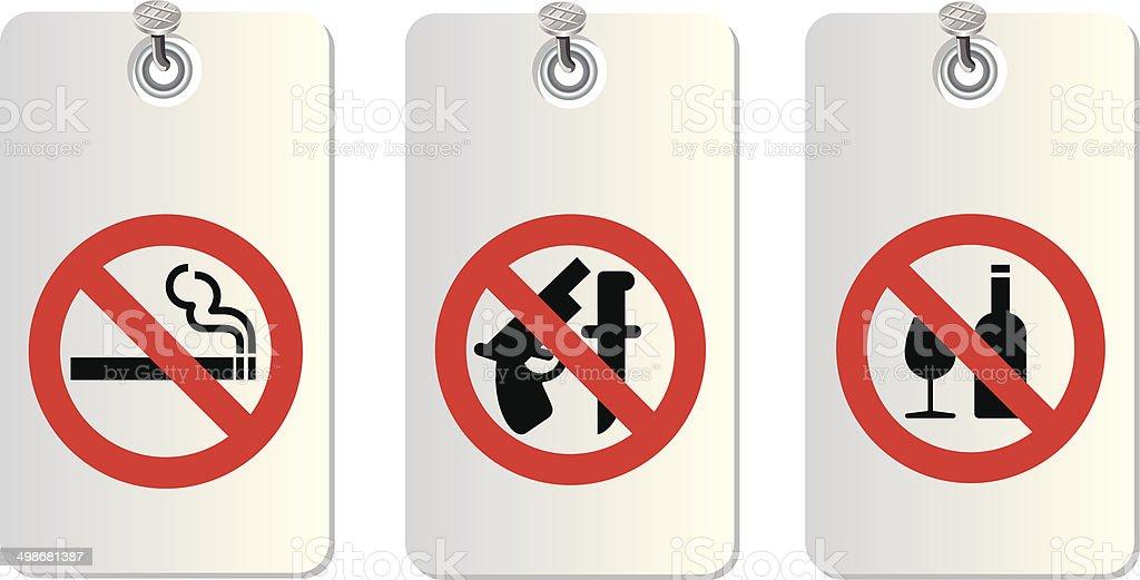 no allowed symbols vector art illustration