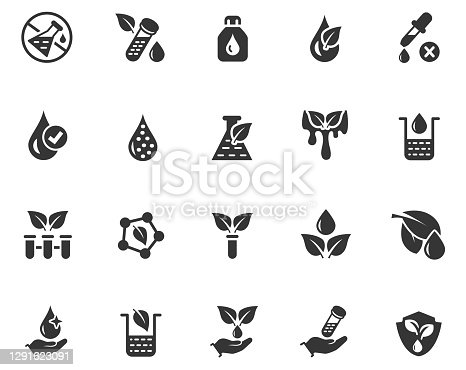 No artificial color icon set , vector illustration