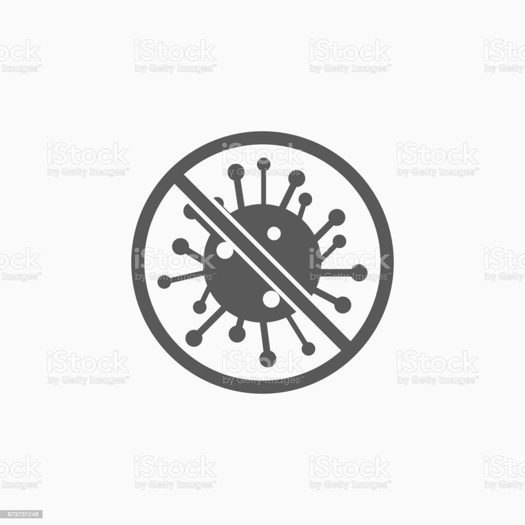 no bacteria icon vector art illustration
