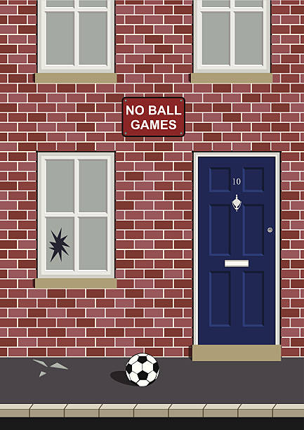 No ball games vector art illustration
