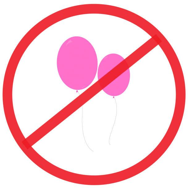 ilustrações, clipart, desenhos animados e ícones de nenhum sinal de balão. - ícones de festas e estações