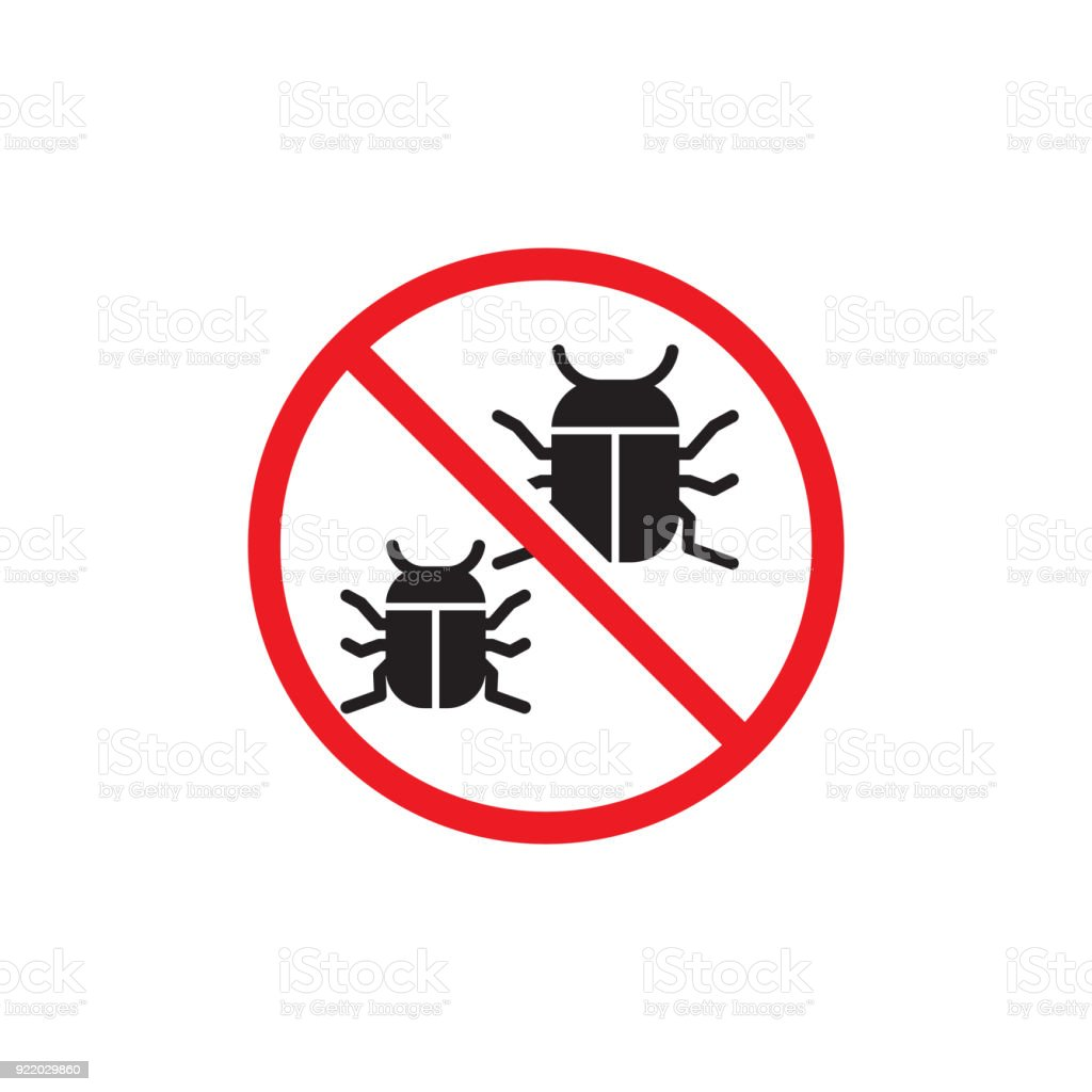 No Bug Symbol Vector Illustration Stock Vector Art More Images Of