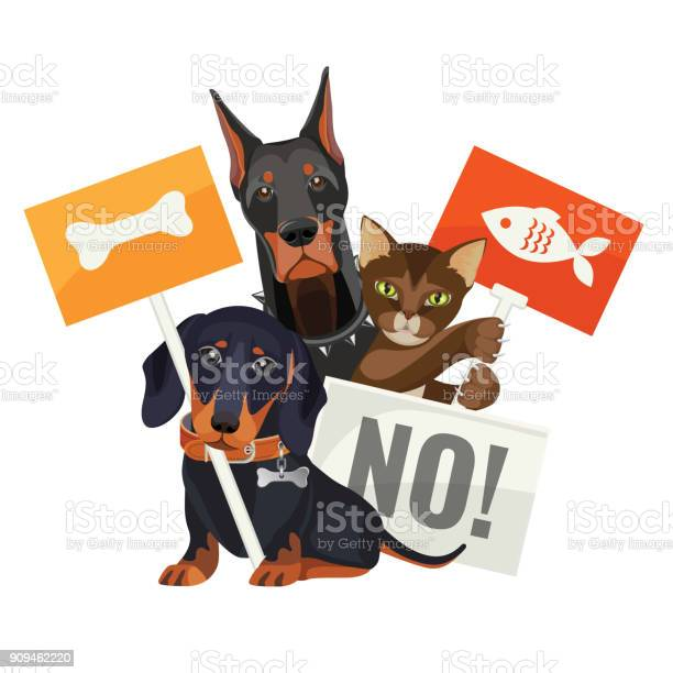 No bullying of animals protesting cats and dogs with boards vector id909462220?b=1&k=6&m=909462220&s=612x612&h=nhr4tafvukh9vpq cldl70hnnauxm8wgazx0r oqfle=