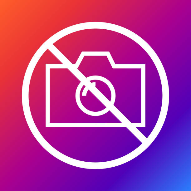 No camera, no photo, sign prohibition - Vector. Eps 10 vector art illustration