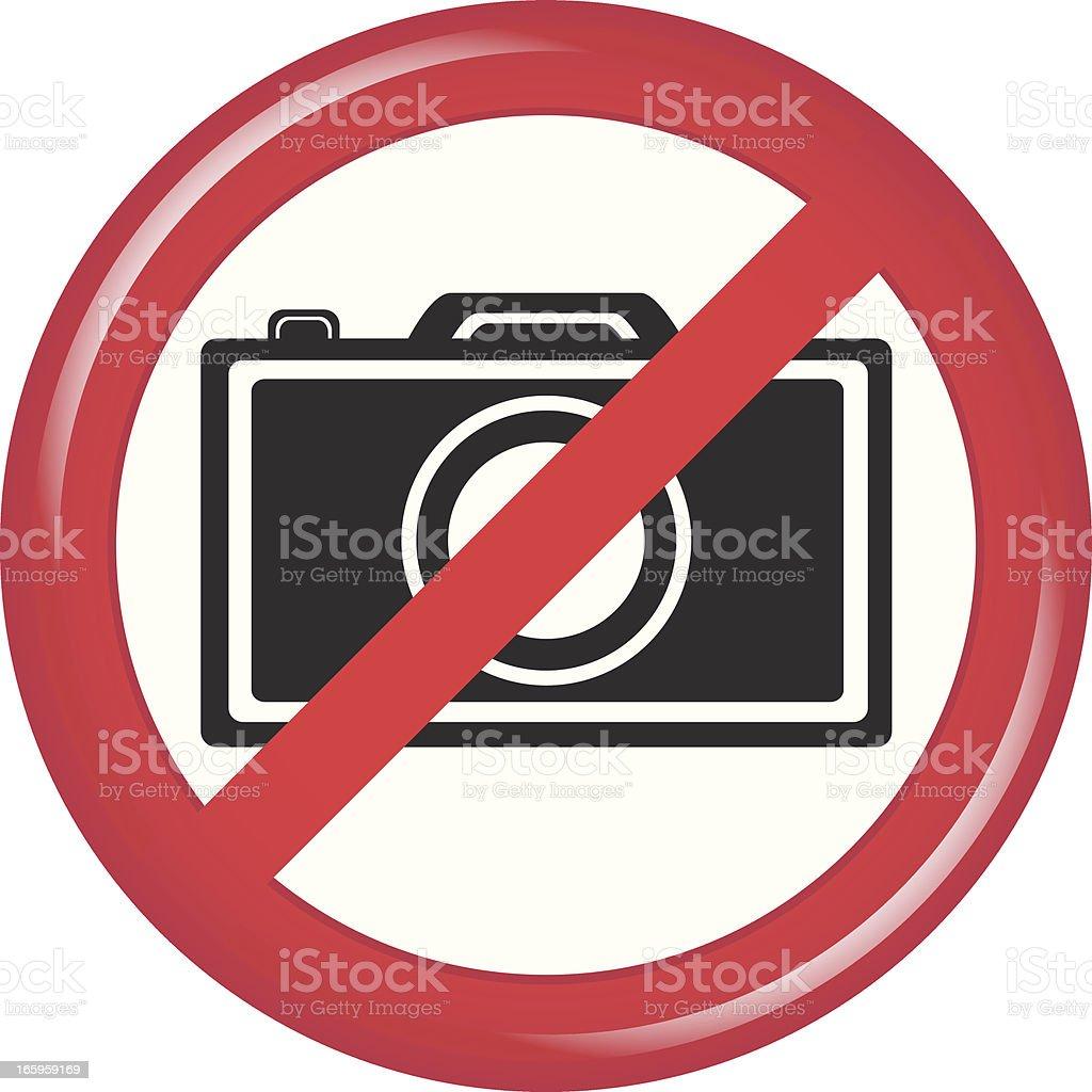 No Camera royalty-free stock vector art