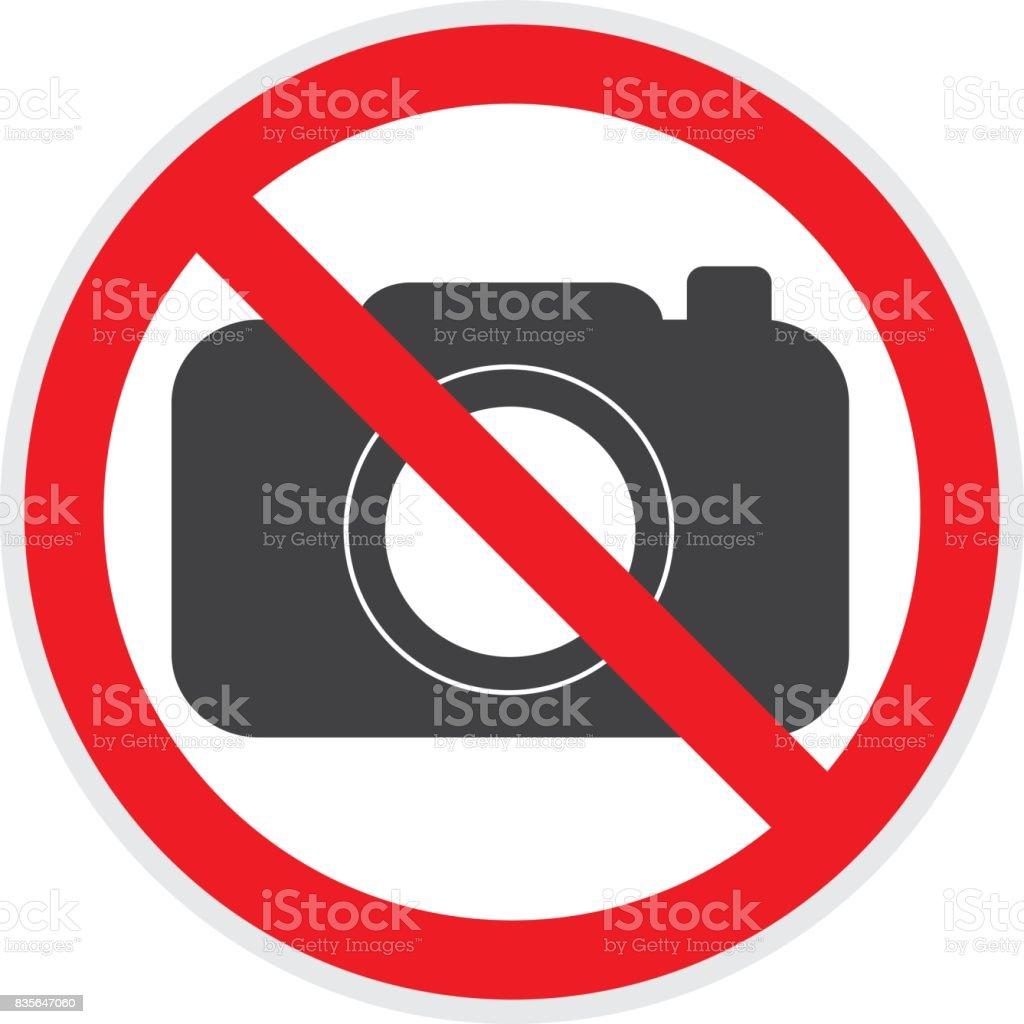 No Cameras Sign vector art illustration