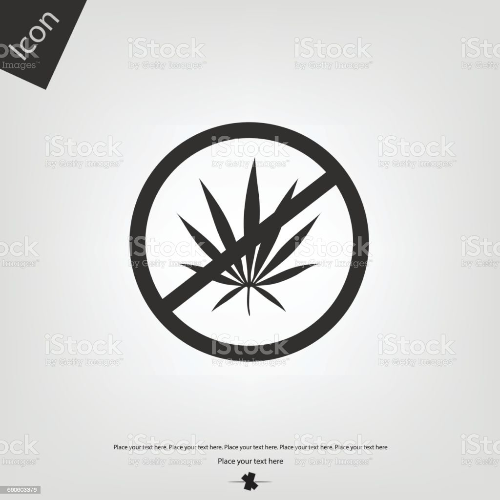 No cannabis icon royalty-free no cannabis icon stock vector art & more images of cut out