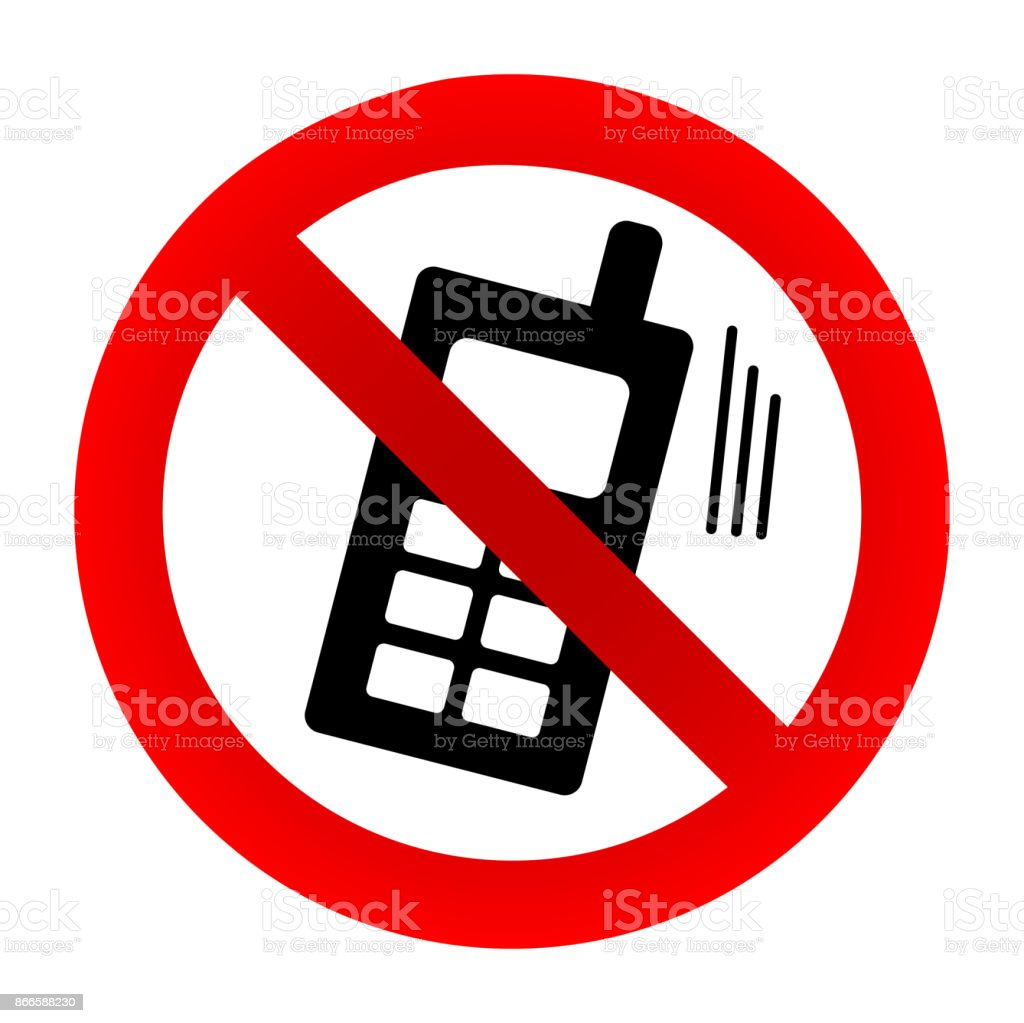 no cell phone sign royalty free no cell phone sign stock vector art