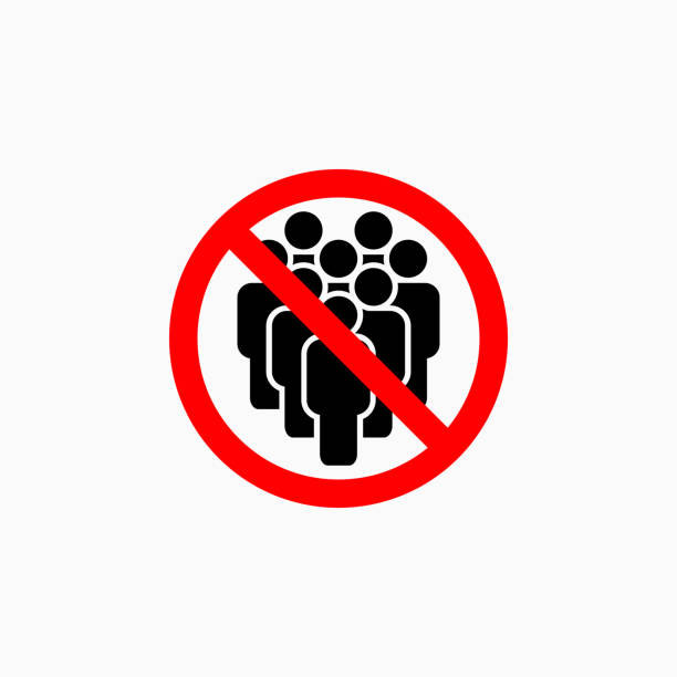 no crowd of people icon, do not crowd vector no crowd of people icon, do not crowd vector crowd of people stock illustrations
