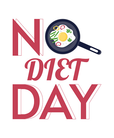 No Diet Day vector illustration. May 6th is No Diet Day.