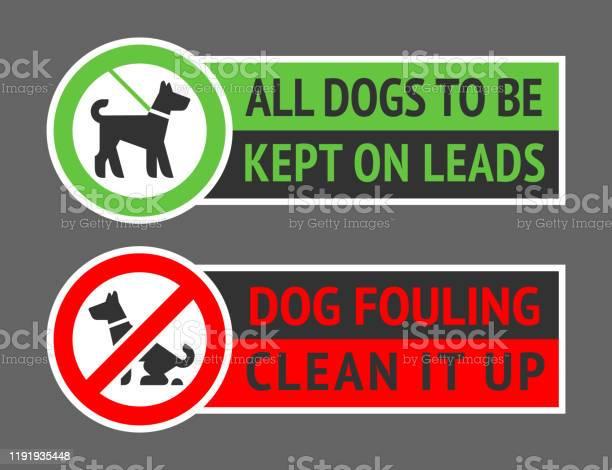No dog fouling or dogs kept on a lead labels new vector illustration vector id1191935448?b=1&k=6&m=1191935448&s=612x612&h=p 9jz75bgpemkiw7 7u4fvmkzdtqt1ijjsliqprezn0=