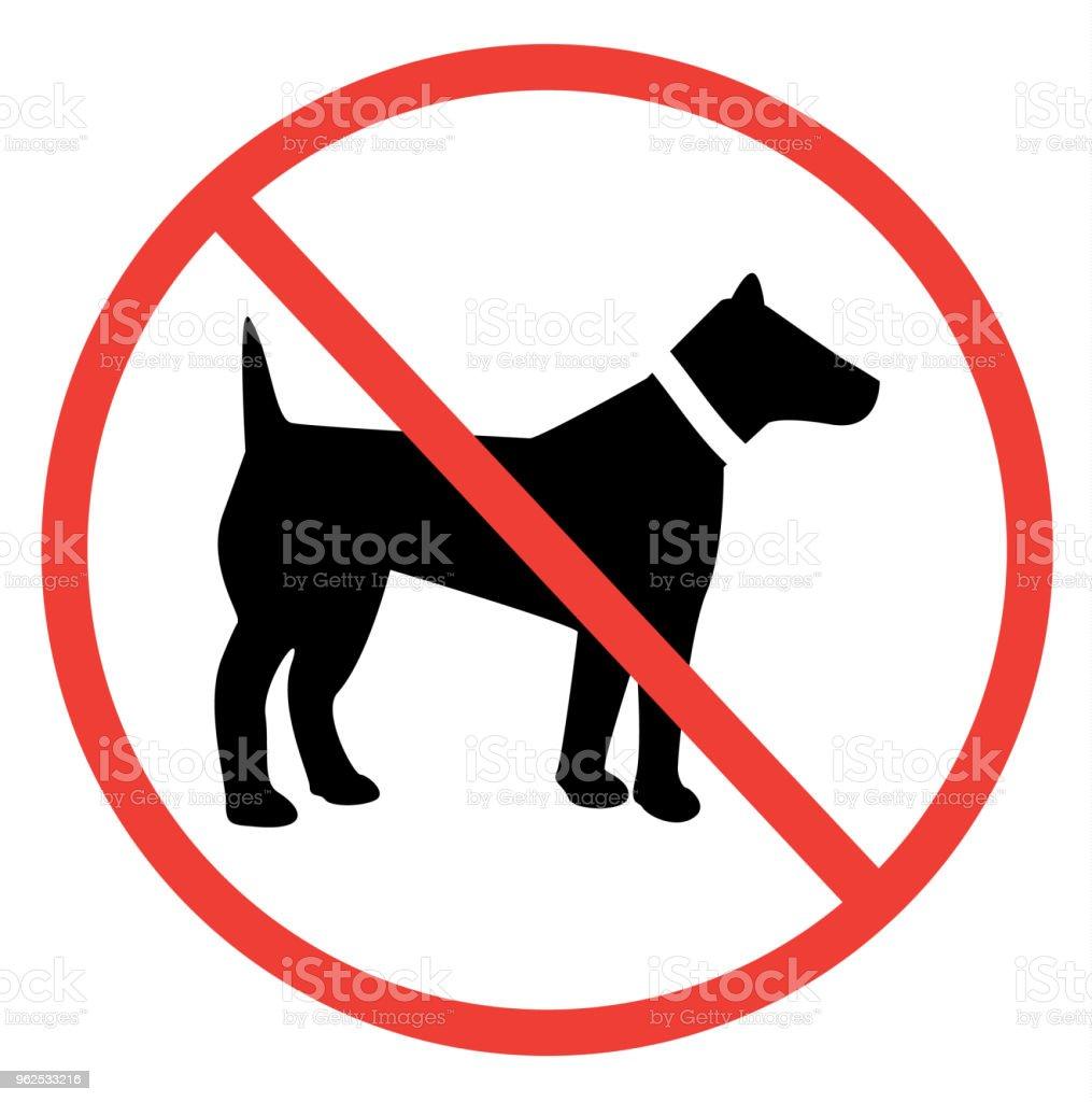 Nenhum sinal de cão - Vetor de Andando royalty-free