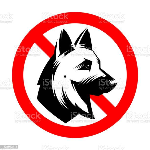 No dogs sign isolated on white background vector id1126912411?b=1&k=6&m=1126912411&s=612x612&h=dnc49i cvyf1iseg5r2udmtvfylt63ebutk3loknwag=