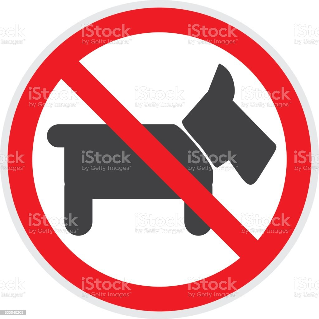 No Dogs Sign vector art illustration