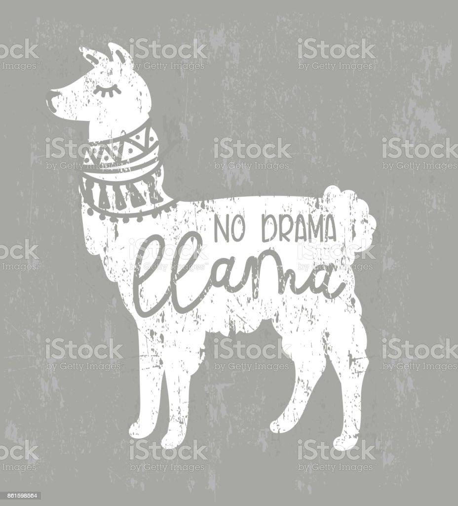 Ilustración de Ningún Vector De Llama Drama Cita Con Garabatos Llama ...