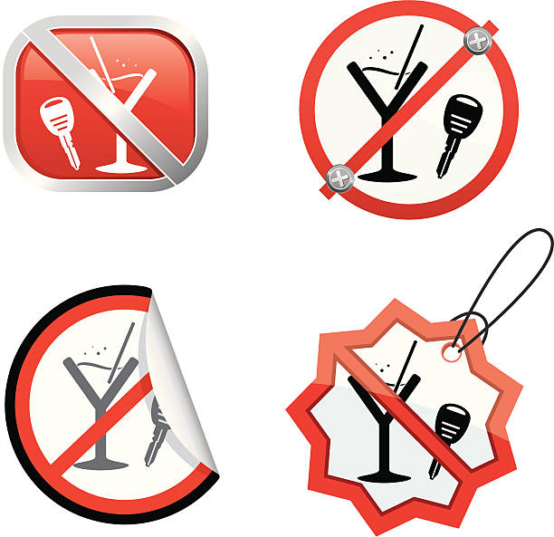 Best Drinking And Driving Illustrations, Royalty-Free Vector