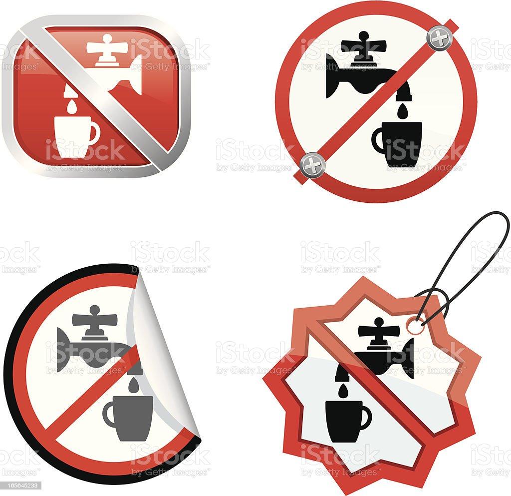 No drinking water vector art illustration