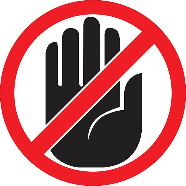 """schild """"keine einfahrt - ausstoßen stock-grafiken, -clipart, -cartoons und -symbole"""