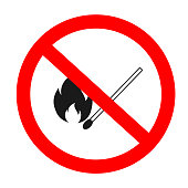 no fire is allowed sing vector