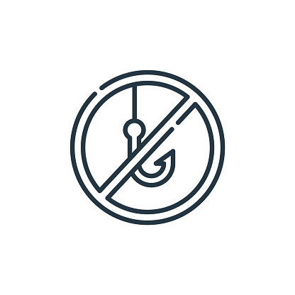 Download No Fishing Sign Vector Free Ai Svg And Eps