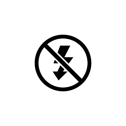 No Flash Photo, Camera Lighting Off Flat Vector Icon
