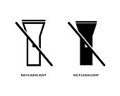 istock No flashlight icon. Flashlight off. 1344565054