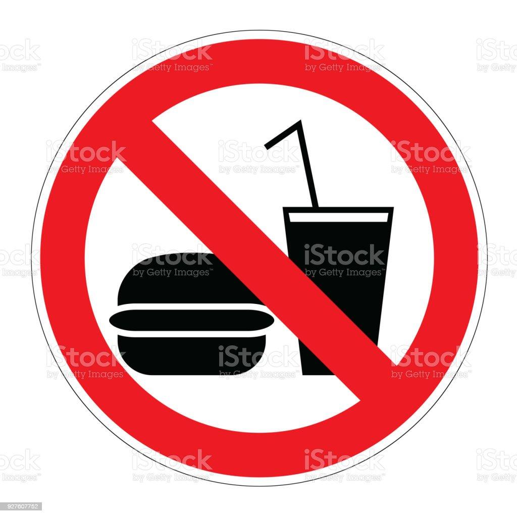 Não há comida e bebidas - ilustração de arte em vetor