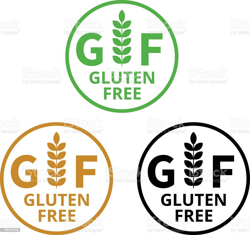 no gluten gluten free food label or sticker flat icon