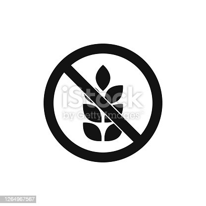 istock No gluten icon isolated on white background. Vector illustration. 1264967567