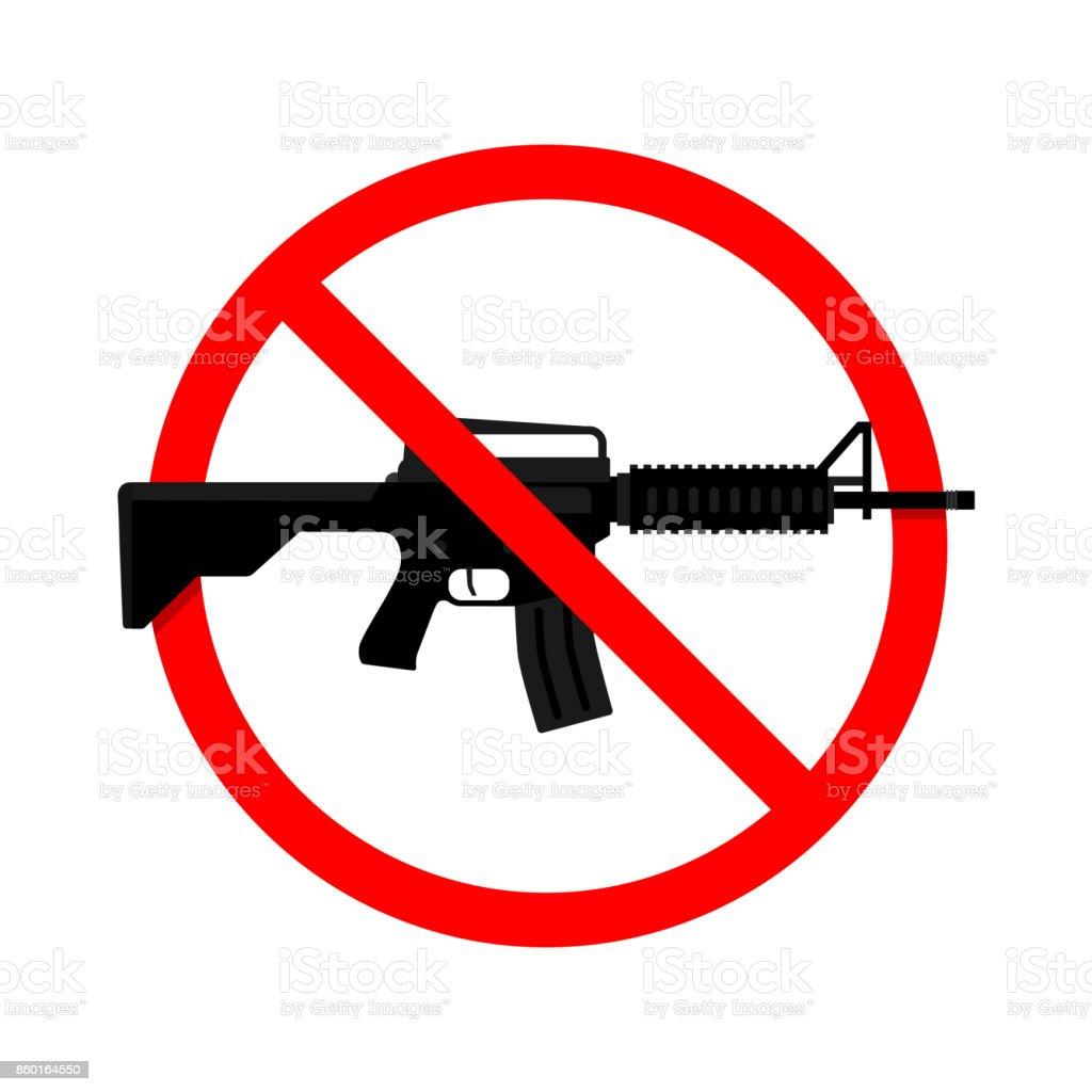 Ningún arma, arma de signo. Ilustración de vector - ilustración de arte vectorial