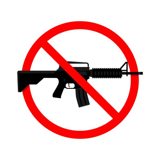 No Gun, Weapon Sign. Vector illustration vector art illustration