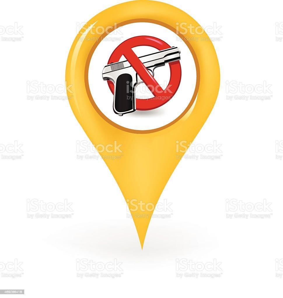 No Guns Location vector art illustration