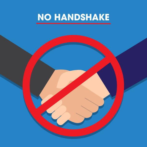 No handshake concept, Vector illustration vector art illustration