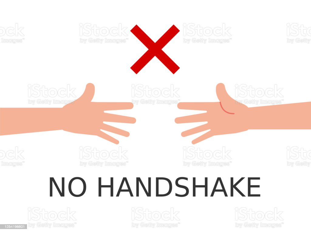 No Handshakes Symbol On White Background Two Arms Reaching Out For Each Other Stock Illustration Download Image Now Istock