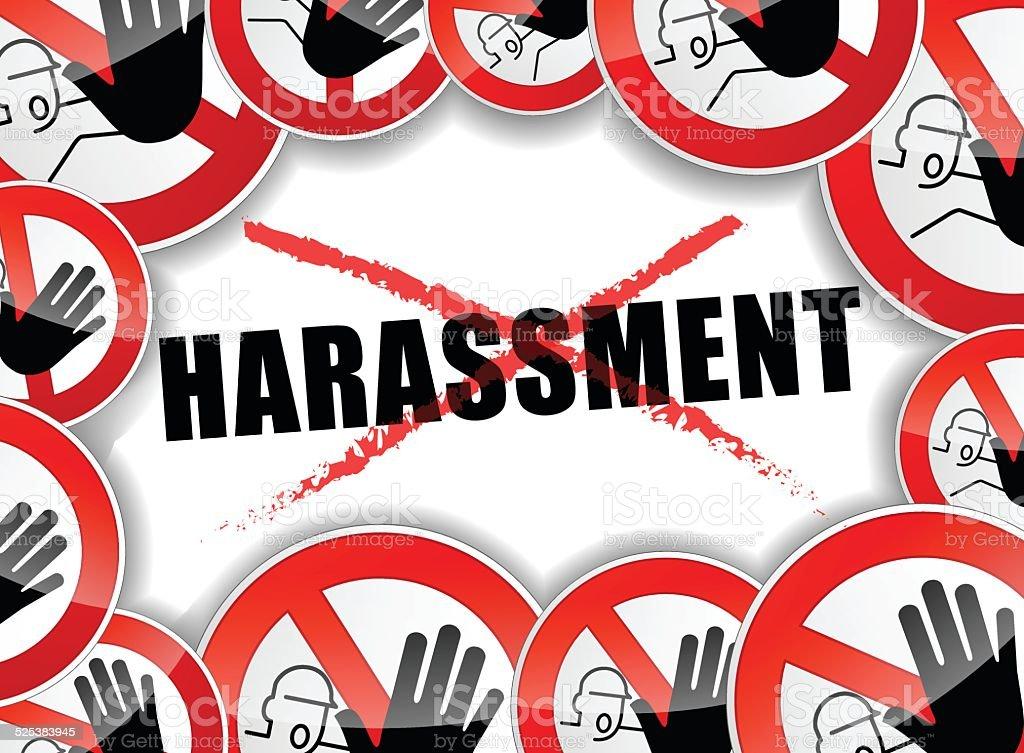 no harassment concept vector art illustration