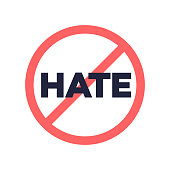 No hate speech sign