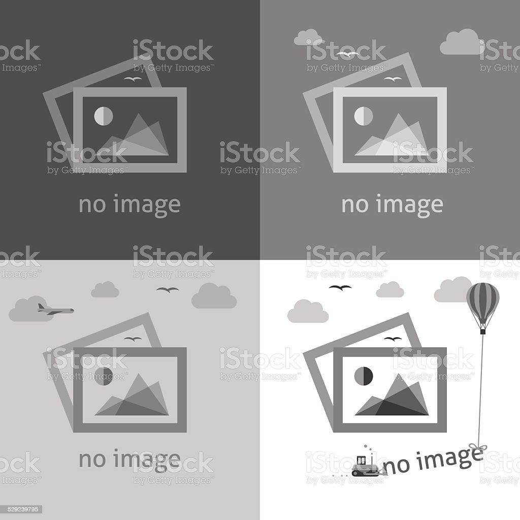 No image signs for web page. vector art illustration
