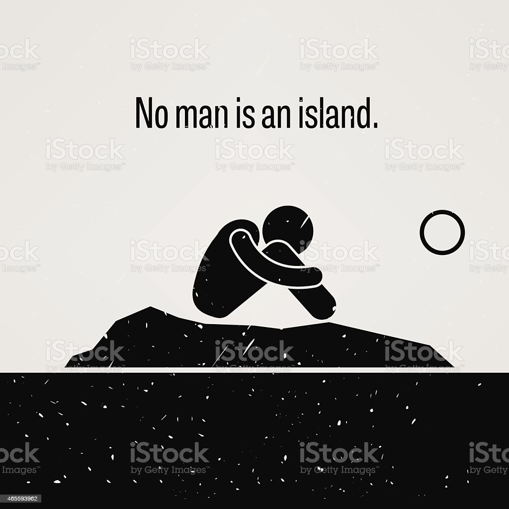 No Man is an Island - Royalty-free 2015 stock vector
