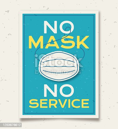 istock No Mask No Service Sign 1253676612