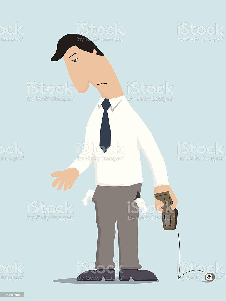 No money businessman vector art illustration