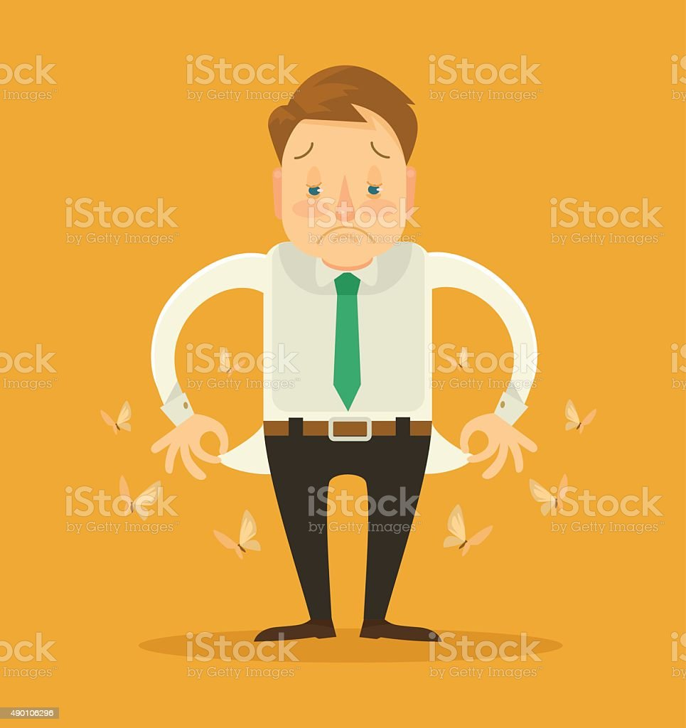 No money. Vector flat illustration vector art illustration