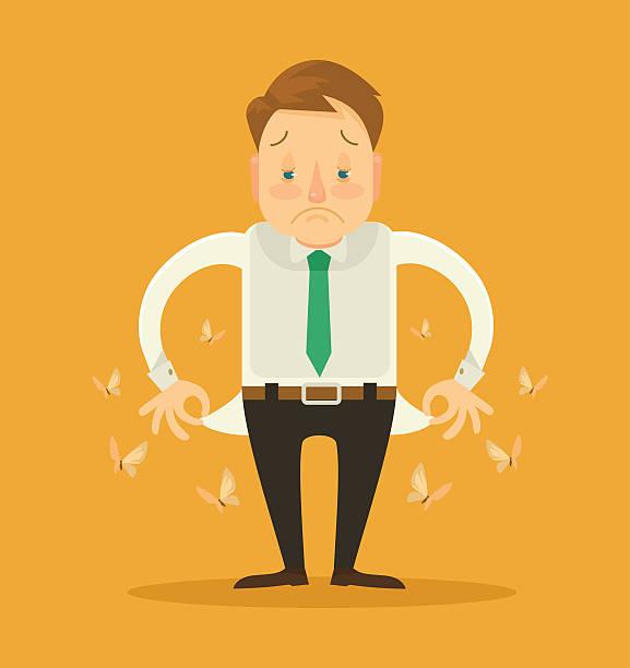 ilustraciones, imágenes clip art, dibujos animados e iconos de stock de no hay dinero. vector ilustración plano - bancarrota